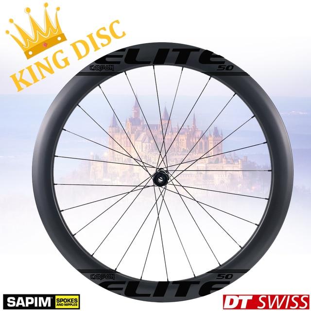 ELITEWHEELS 700c مكبح قرصي عجلات الكربون DT السويسري 240 ل cyclocros الحصى طقم عجلات الدراجة الفاصلة أنبوبي لايحتاج حافة الملك