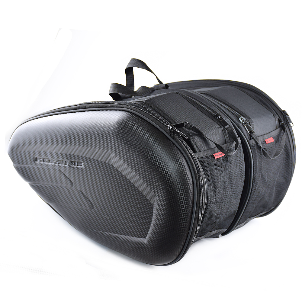 Motorcycle bag Saddle Saddlebags luggage Suitcase Motorbike Rear Seat Bag Saddle Bag with Waterproof Cover SA212