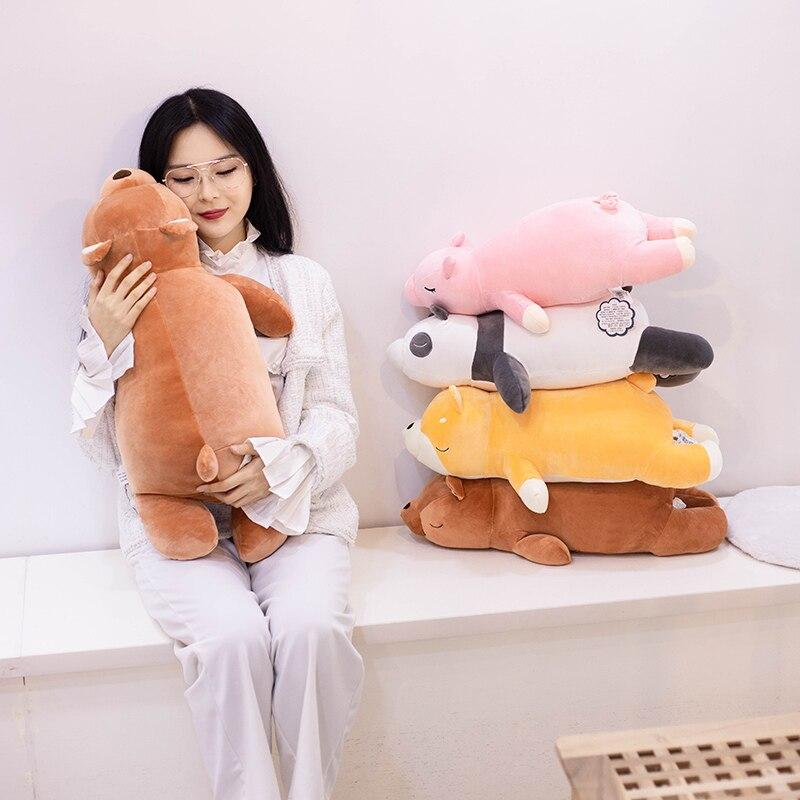 Panda Plush Toys Soft Big Cute Stuffed Animals Shiba Inu Squisy Doll Pig Pillow Home Decor Birthday Gifts For Girls Kids Just6F