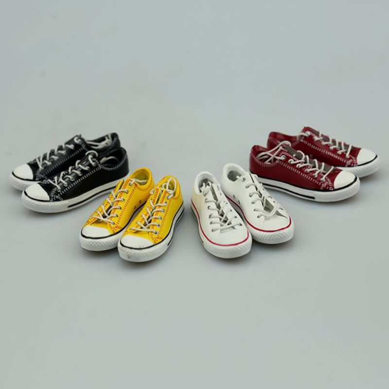 """1:6 Scale Women Fashion Sports Shoes Female Fashion Casual Shoes Lace-up Shoes For 12"""" Action Figure Body Doll Toys model shows"""