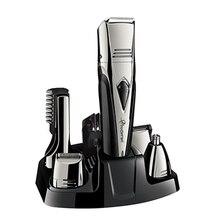Kit de aseo 8in1 para hombres, Afeitadora eléctrica de aluminio, Afeitadora eléctrica para Barba, afeitadora de precisión, afeitadora corporal, afeitadora para nariz y oreja