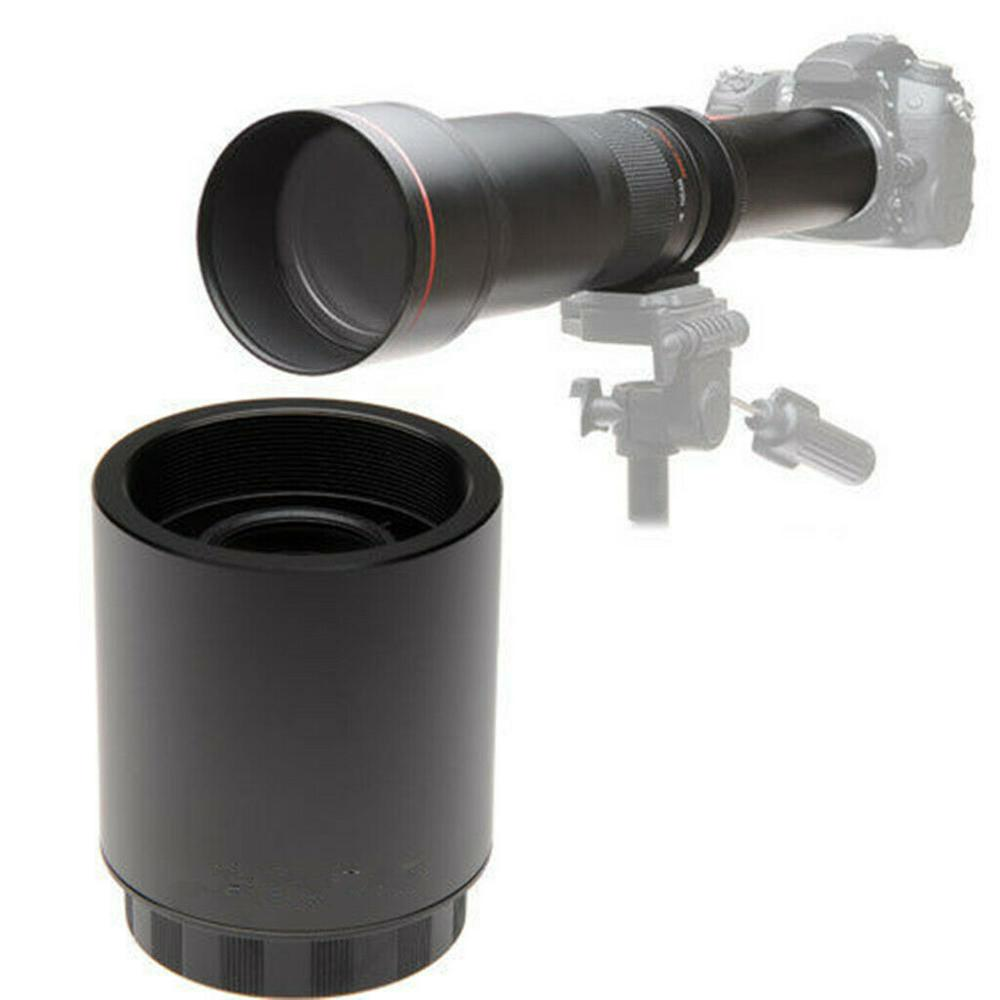 Телеконвертер JINTU 2x для телеобъектива высокого разрешения с T-образным креплением для объективов SLR 420-800 мм 500 мм 800 мм 900 мм 650-1300 мм