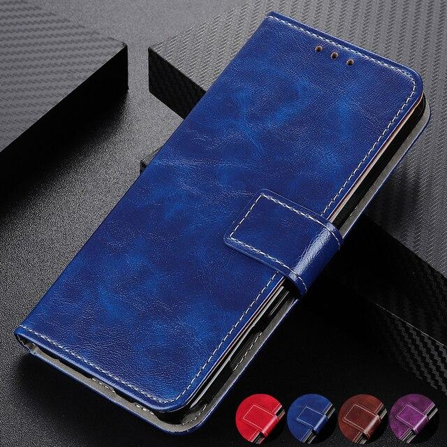 רטרו Flip עור ארנק כרטיס חריצי כיסוי מקרה עבור סמסונג גלקסי הערה 10 בתוספת S10 S9 בתוספת A10 A10S A10E a20 A20E A30 A50 A70