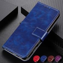 Funda Retro plegable de cuero con ranuras para tarjetas para Samsung Galaxy Note 10 Plus S10 S9 Plus A10 A10S A10E a20 A20E A30 A50 A70