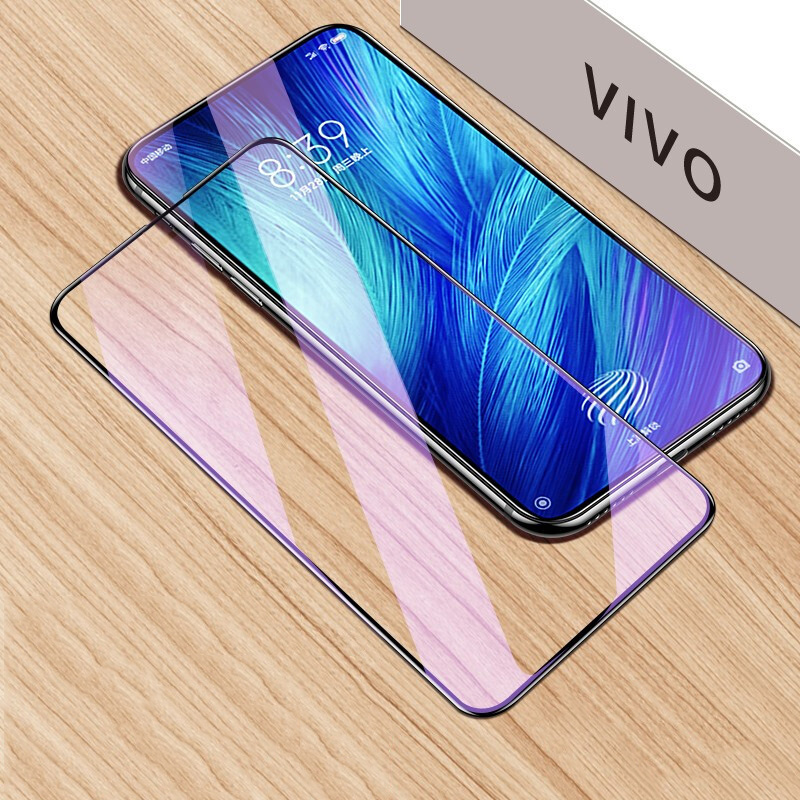 For VIVO X27 Nex S1 Pro Anti-blue Tempered Glass For VIVO Nex 2 Dual Display X23 X21 Anti Blue Screen Protector Full Cover Glass