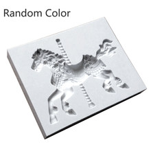 Horse Silicone Mold Baby Birthday Party Fondant DIY Cake Decorating Tools Horse Chocolate Candy Mould Kitchen Baking Moulds(China)