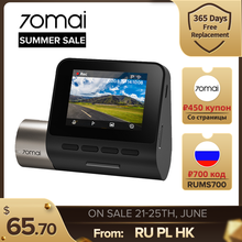 70mai Dash Cam Pro Plus A500 2021 Upgraded Version Built in GPS ADAS Car DVR 24H Parking Monitor App Control 1944P 70mai A500S