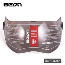 BEON B702 T702 MOTORCYCLE HELMETS VISOR BLACK TRANSPARENT SILVER goggles gloasse