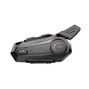 Image 1 - Motocykl BT domofon z radiem FM kask zestaw słuchawkowy BT wodoodporny uniwersalny System komunikacji dla ATV motor terenowy motocykl