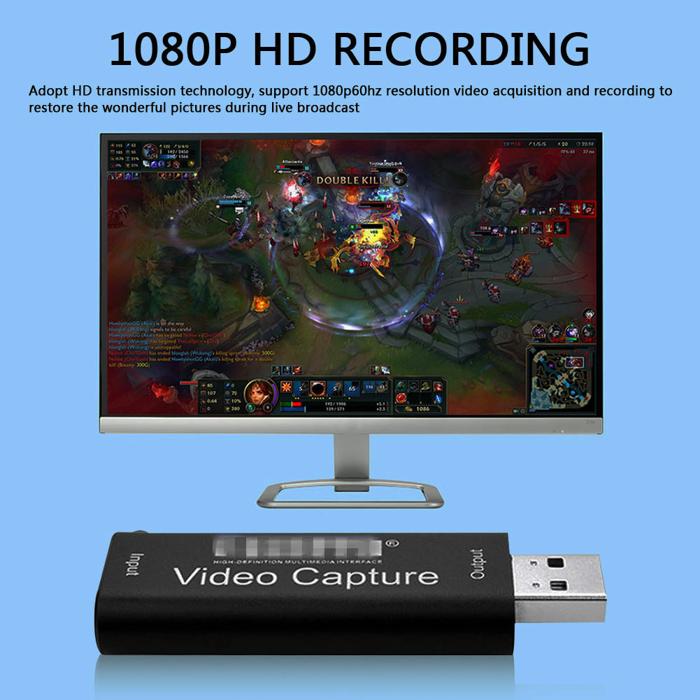 Video Capture Card 4K USB2.0 HDMI-compatible Grabber Record Box Households Computer Safety Parts for OBS HD Camera Recording 2