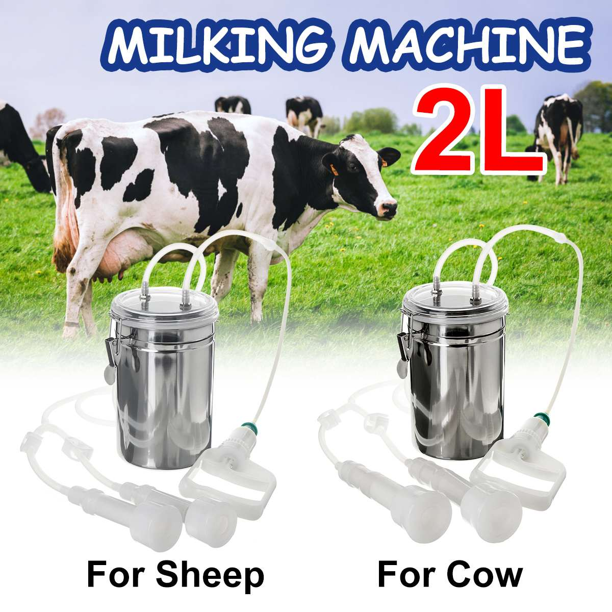 Milk Milking Machine Extracting Portable Pump Equipment Accessories Cow Goat