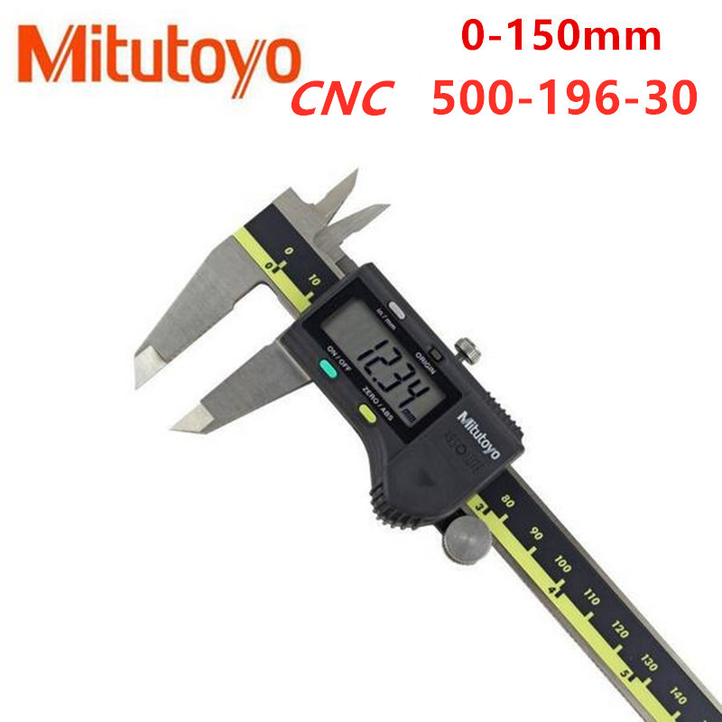 Mitutoyo CNC Calipers Absolute 500-196-30 Digital Caliper Stainless Steel Inch Metric 6inch 0-150mm Range-0 001inch Accuracy 0 0005inch