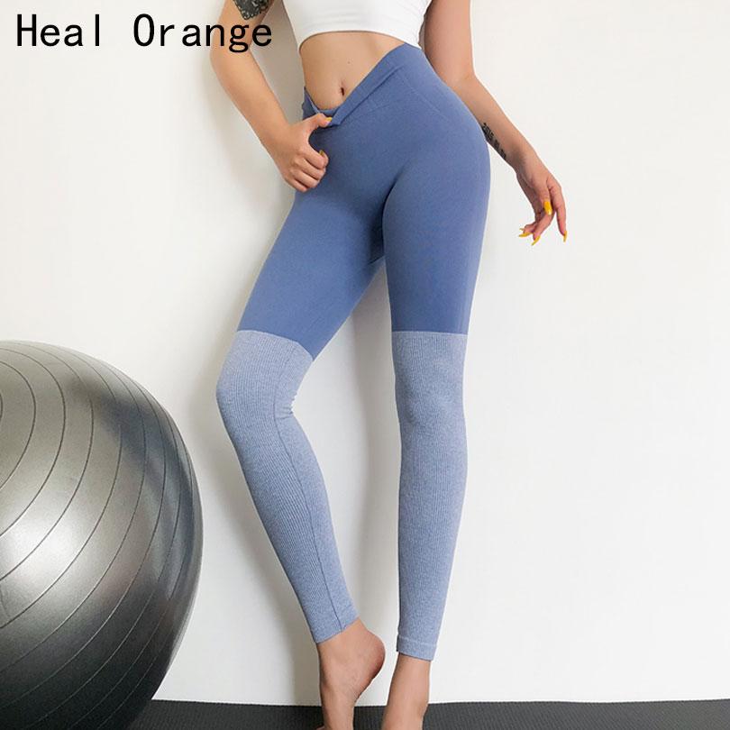 Pantalon Yoga Running Leggings Women Gym Tights Splice Athletic Fitness Sport