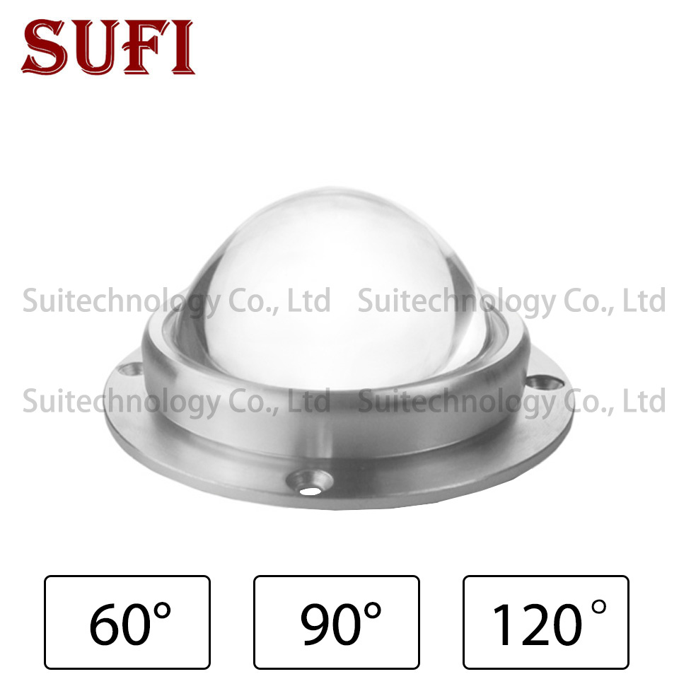 67mm LED Lens Optical Glass 67mm + <font><b>Reflector</b></font> + Fixed Bracket Collimator Tools 60 <font><b>90</b></font> <font><b>120</b></font> Degrees for 20W 30W 50W 100W LED Chip image