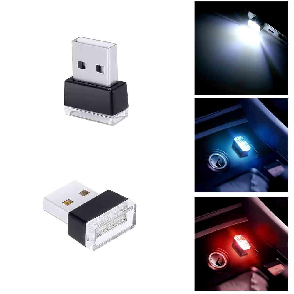 1pc Universal Car Atmosphere Lights Decorative Lamp Car USB LED Emergency Lighting PC Portable Plug and Play