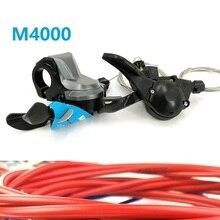 SL BR FD M4000 переключатель 3 скорости 9 скоростей 27 S рычаг переключения передач велосипедный передний задний переключатель и Корпус кабеля переключения передач