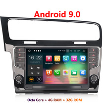 Erisin ES7911G 9 дюймов Android 9,0 Octa Core 4 Гб Оперативная память автомобильный мультимедийный плеер Радио BT для VW Golf VII/7