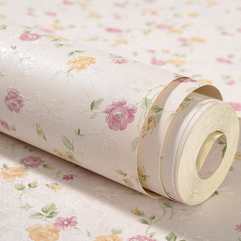 Warm Pastoral Style Small Flower Bedroom Wallpaper Korean Style Small Floral Clothing Store Wedding Dress Photography Shop Wall