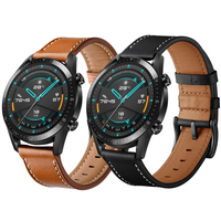 Lederen Band Voor Huawei Watch Gt 2 46 Mm 42 Mm/Huawei Honor Magic 2 Horloge Armband Band Correa Sport polsband