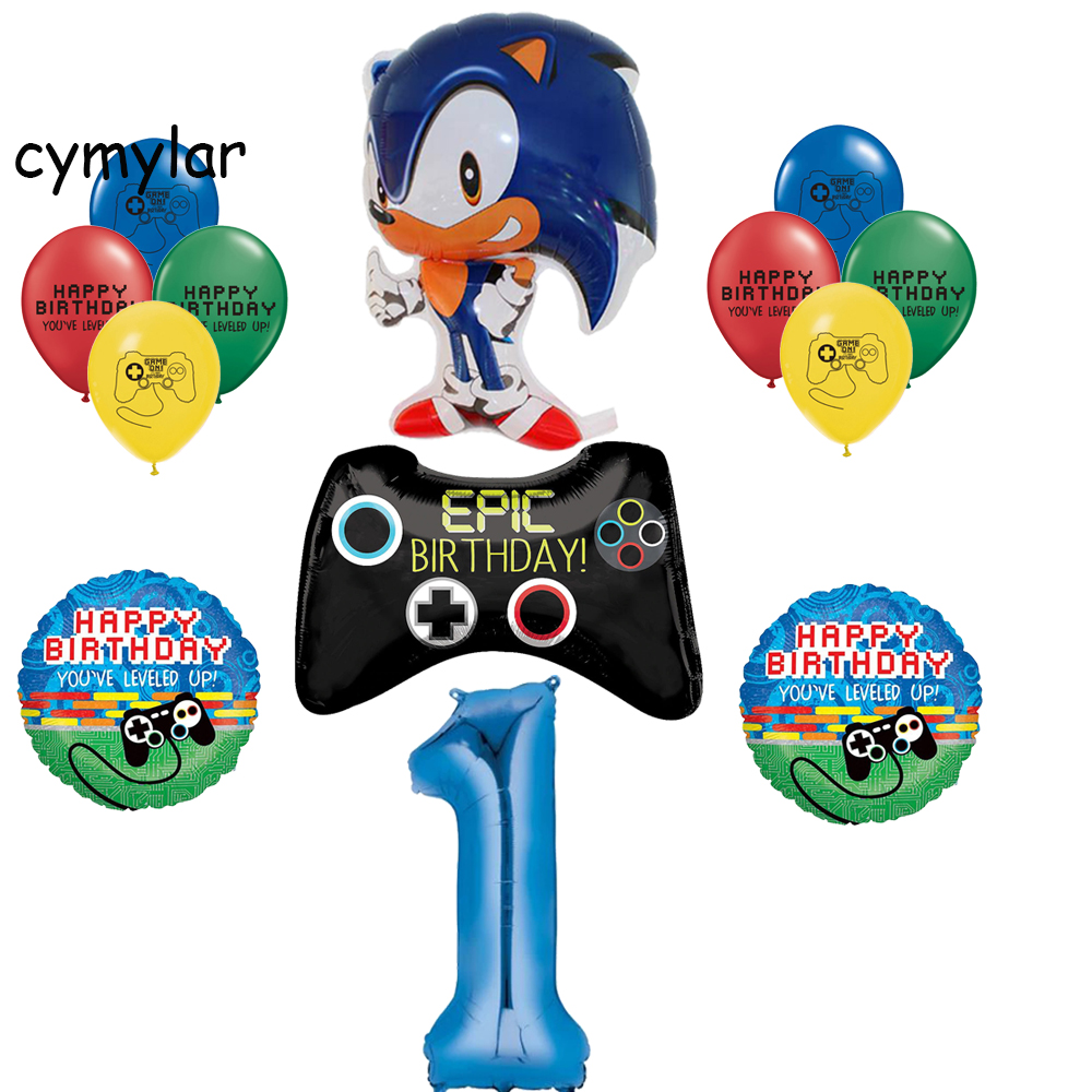 "12/"" SEGA SONIC THE HEDGEHOG BIRTHDAY PARTY BALLOONS BALLOON LATEX DECORATION"
