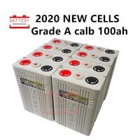 8Pcs 3.2v 100ah Lifepo4 battery Lithium iron phosphate cell batteries NEW CALB ca100 Plastic 12v200AH 24V100AH for solar RV pack