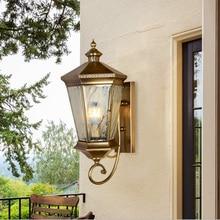 Aplique de pared nórdico Retro todas las lámparas de cobre artes y artesanías luz exterior luces de pared pasillo lámpara estilo antiguo lámpara de pared al aire libre
