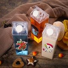 Kitchen Leakproof Creative Transparent Milk Water Bottle Dri