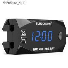 DC 12V LED Digital Display Voltmeter Voltage Panel Meter For Electromobile Motorcycle Car все цены