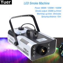 Wysokiej jakości 1500W RGB LED mgła efekt sceniczny maszyna do dymu pilot maszyna do dymu scena dyskoteki oświetlenie mgła DJEquipment