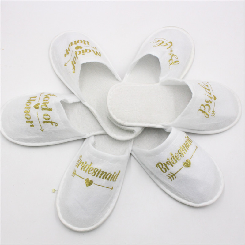 Party Decoration Disposable Slippers Hen Night Party Bride Team Bridesmaid Shower Wedding Decoration Gift Bachelorette Party-C