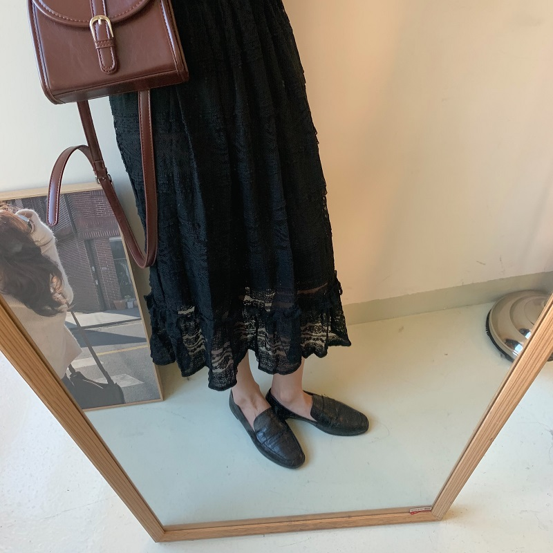 H9878e10b3c18412790d54d119fa4f50eO - Spring V-Neck Long Sleeves Long Lace Midi Dress