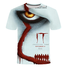IT: Chapter Two 3D Printed T Shirt Men Summer IT Clown Horro