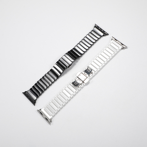 Image 5 - Ceramic Strap for Apple Watch Band 44 mm 40mm iwatch 42mm 38mm Luxury Stainless steel bracelet for Apple watch series 5 4 3 2 1