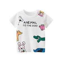 Летняя детская футболка ht хлопковые топы с принтом животных