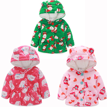 Baby Girl Clothes Autumn Winter Coral Cashmere Coat Toddler Clothing Jacket Newborn Infant Jackets 2019