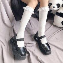 High Quality Lolita Stockings Women Thigh High Knee Socks Woman Warm Cotton Long Stockings Girls Dress Calcetine Medias
