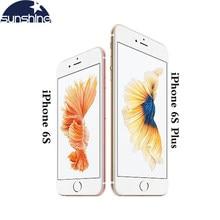 Apple iphone 6s/iphone 6s plus telemóvel, original desbloqueado 12.0mp 2g ram 16/32 celular 4g lte dual core wifi/64/128g rom, com núcleo dual core