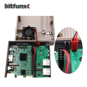 Image 4 - 라즈베리 파이 B +/2B/3B/3B + 용 냉각 팬 전원 버튼 키트가있는 미니 NESPI 케이스 Retroflag 케이스