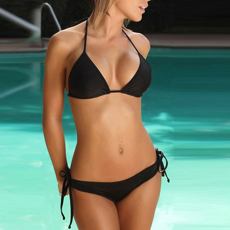 Solid Sexy Bikini Set Women Swimming Suit Fashion Swimsuit Two-Piece Swimwear Bathing Suit Female Biquini