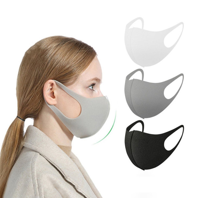 3pcs Washable Reusable Kpop Face Mouth Mask 3D Cloth Dust Safety Fashion Designer Women Men Bts Mouth Masks Bulk Unisex Korean