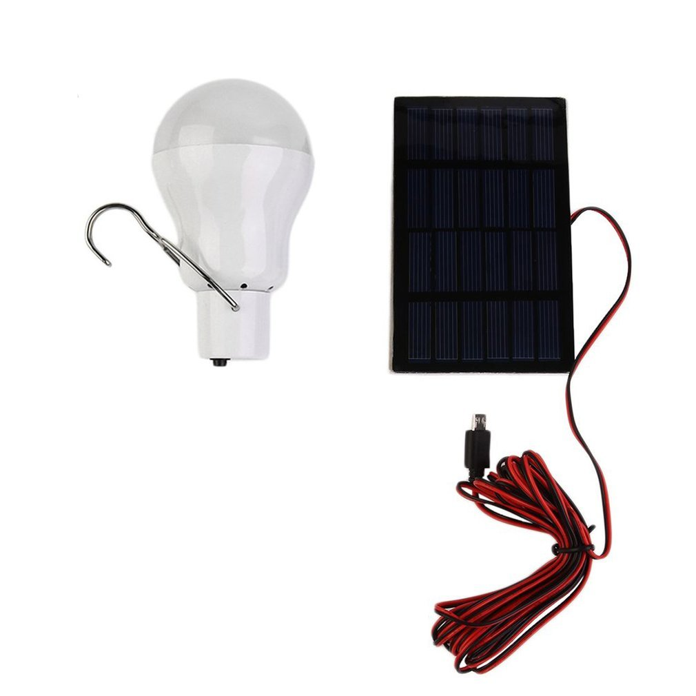 Solar Panel  Powered Led Bulb Lighting System Light Lamp Solar Power Light Outdoor Solar Lamp Spotlight Garden Portable Light