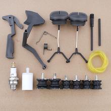 Buffer AV Mount Throttle Trigger Fuel Cap Hose For Husqvarna 61 268 266 272 272XP Chainsaw 501518002, 501518102 w Oil Tank Vent