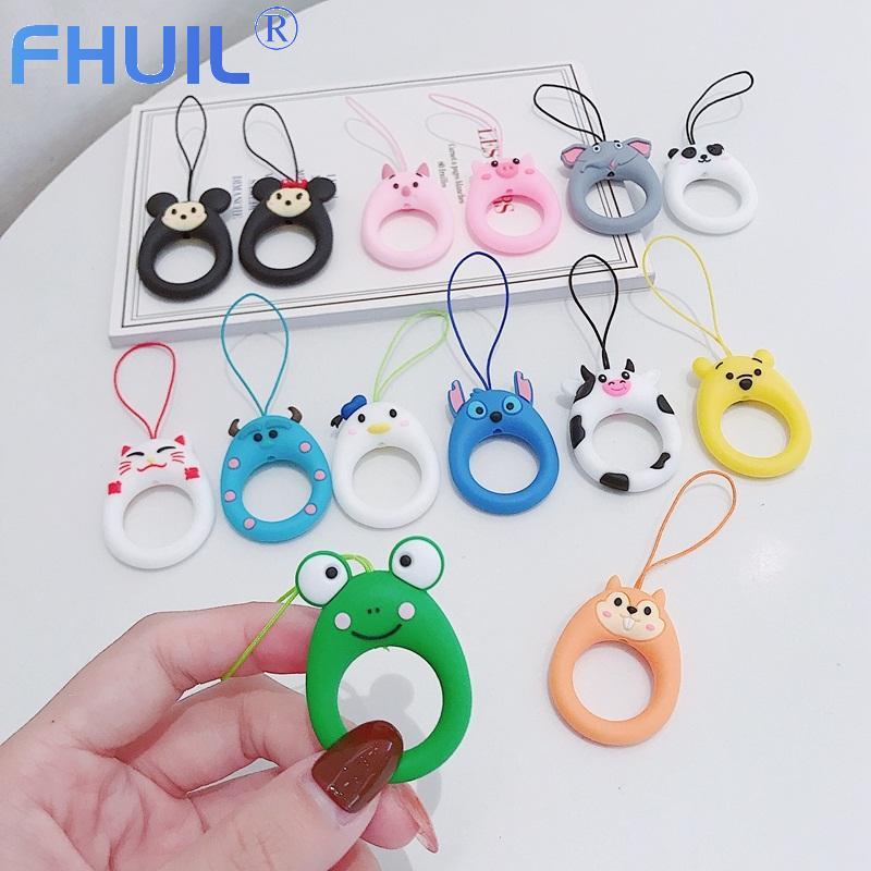 Cute Silicone wrist strap Lanyard For Keys Phones Ring Straps for iPhone7 Keycord Lanyards Finger Rings