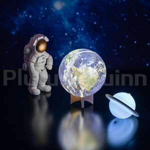 Drop 2020 New 3D Printing Earth Lamp Rechargable Planet Night Light For Bedroom decoration As Galaxy Lamp Children's Gift