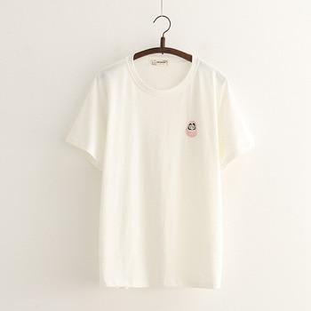 Print Katoen Casual T Shirt Lady Top Tee T-shirt Vrouwen Zomer Mode