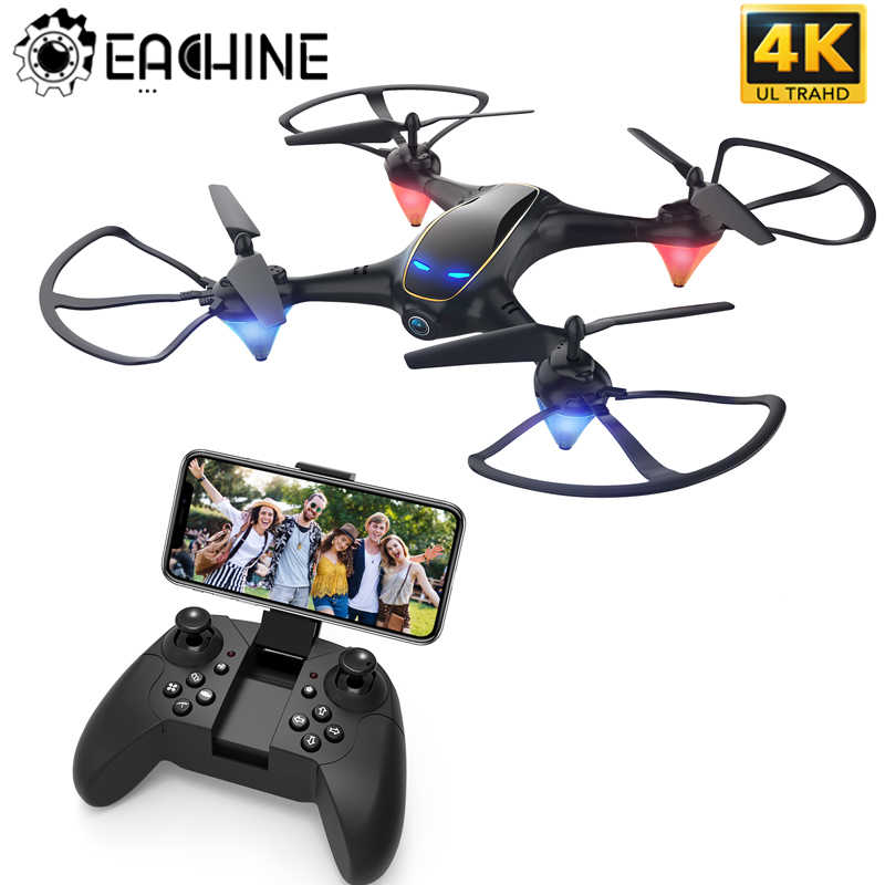 Eachine E38 WiFi FPV RC Drone 4K Kamera Optical Flow 1080P HD Dual Kamera Aerial Video RC Quadcopter pesawat Quadrocopter Mainan
