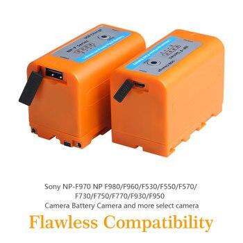 Batmax 2Pcs USB Output 7800mAh NP-F960 NP-F970 NP F960 F970 F950 Battery for Sony NP F970 F960 F550 F570 QM91D CCD-RV100 TRU47E фото