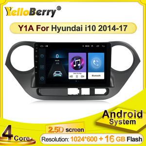 Android Car GPS Navigation radio player for Hyundai i10 2014 2015 2016 2017 Multimedia video stereo SWC Bluetooth WIFI