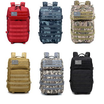 Military Tactical Backpack 50L Army Assault Molle Rucksack Men's Hiking Travel Hunting Camping 900D EDC Waterproof Bag Outdoor 900d waterproof military tactical assault molle pack backpack army rucksack outdoor sport bags hiking camping hunting backpack