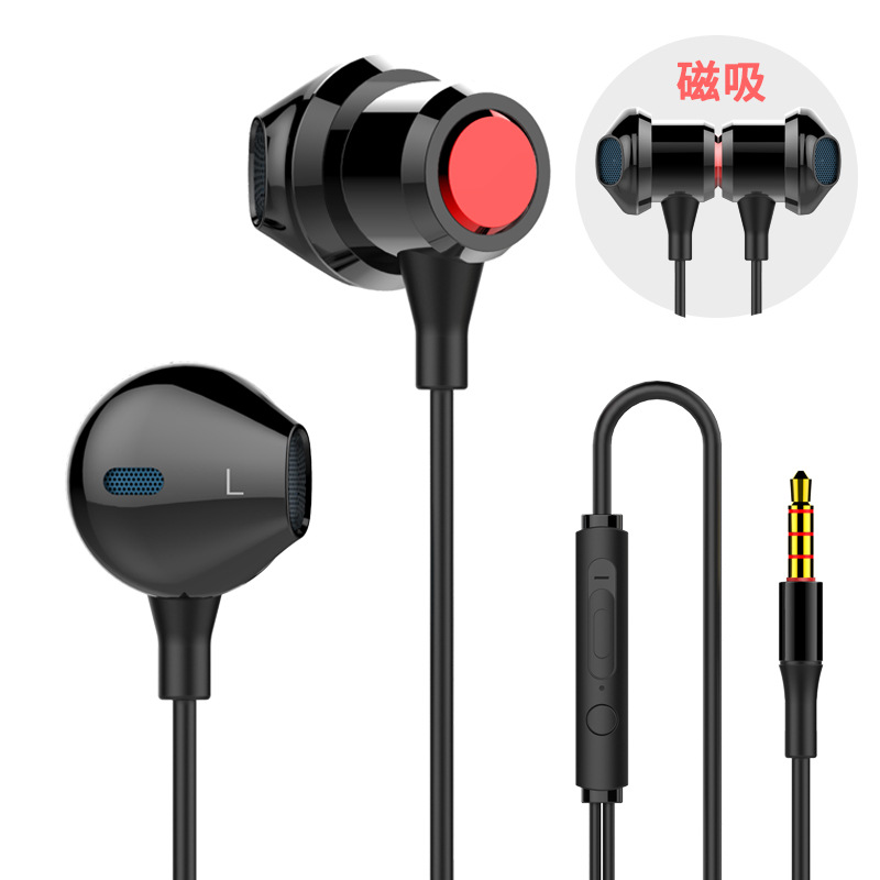 Yulass Wired Headphones Boy Black High Quality New Arrival In Ear HiFi Headphone for Video Game